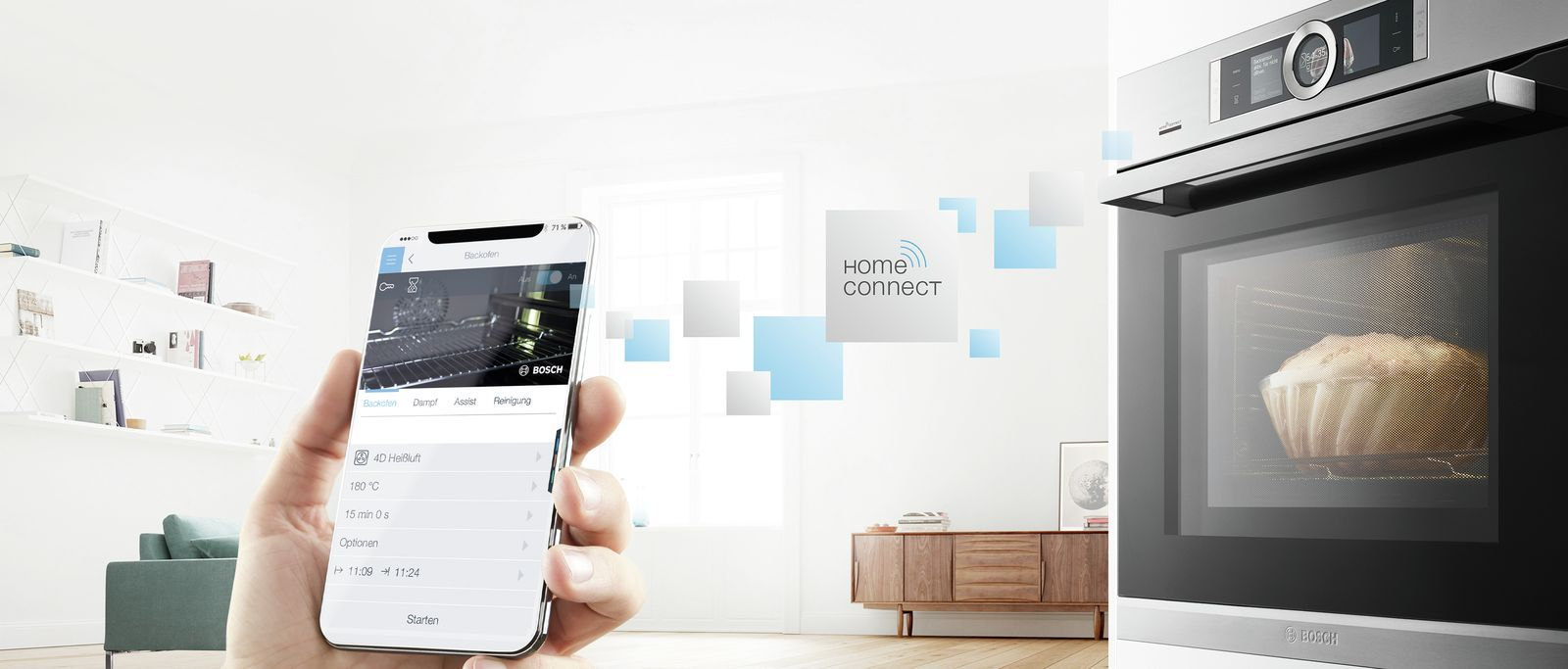 Backöfen mit Home Connect Funktion